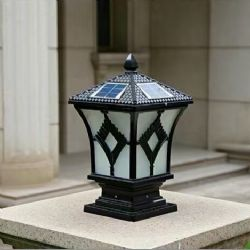 Top Quality 4W Outdoor Fence Post Solar Light / Lamp for Outdoor Lighting