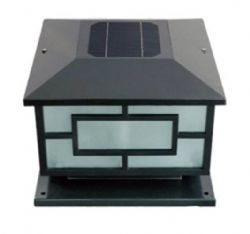 Black Color Aluminum 400mm Garden Gate Decking Solar Light
