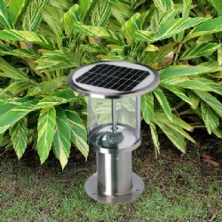 38cm height stainless steel solar post light for garden decking lighting