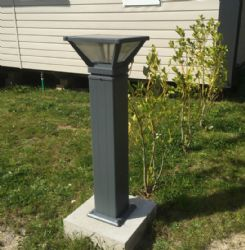 Factory High Power 8W Outdoor Solar LED Bollard Light / Lamp