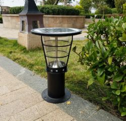 Portable 38cm height Outdoor Garden Decking Solar Light/ Solar Lamp